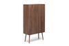 MALIN Massivholz Highboard - Highboard - Nussbaum geschliffen, natur geölt / L 90 x T 40 x H 160 cm - WHITEOAK - SOLIDMADE | Design Furniture - 1