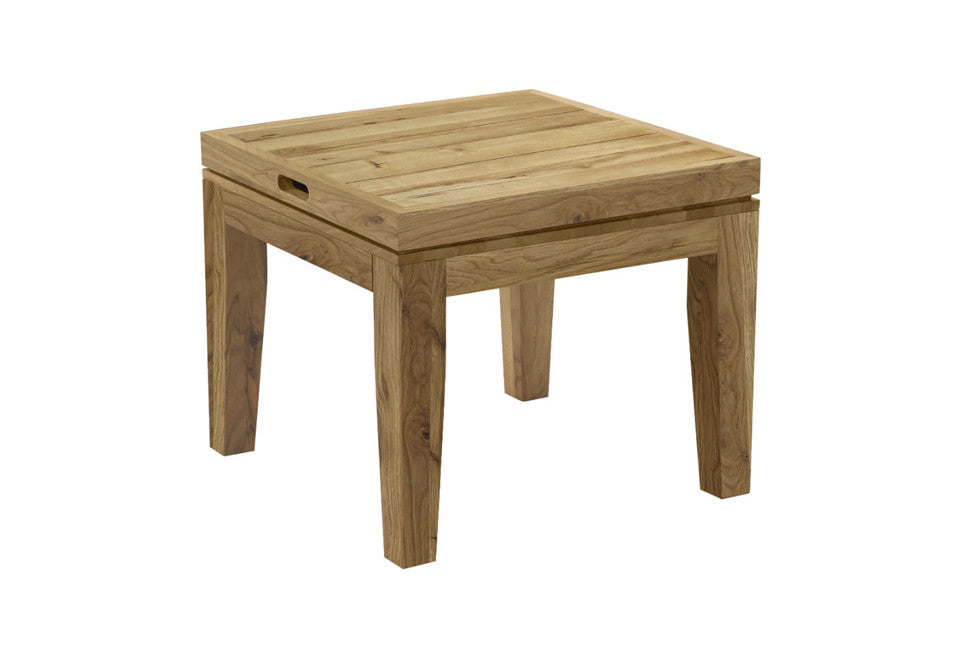 MALOU Massivholz Beistelltisch - Beistelltisch - 50 x 50 x 37/41 cm / Eiche geschliffen, natur geölt - SOLIDMADE | Design Furniture - SOLIDMADE | Design Furniture - 1
