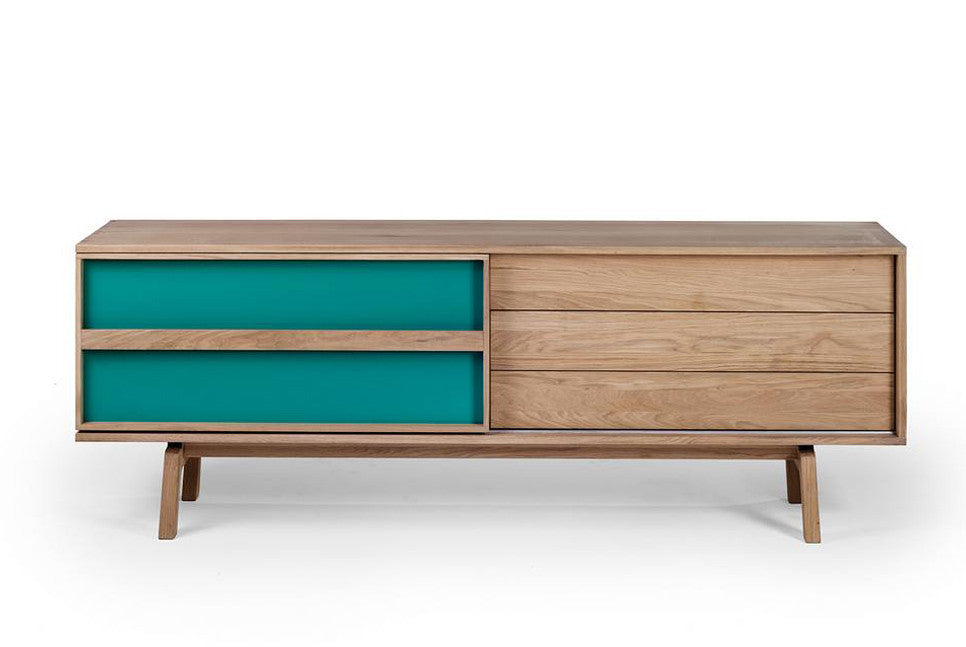 SCAND Massivholz Sideboard mit Schiebetüre - Sideboard -  - WHITEOAK - SOLIDMADE | Design Furniture - 1