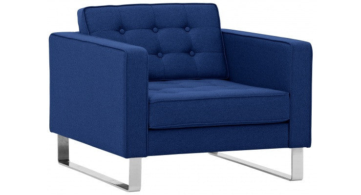 NEW YORK Sessel - Sessel - Stoff RAMIRA blau - SOLIDMADE | Design Furniture - SOLIDMADE | Design Furniture - 2