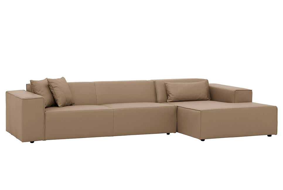 ATLANTA Ecksofa in Leder - Sofa - Leder taupe / Longchair rechts - SOLIDMADE | Design Furniture - SOLIDMADE | Design Furniture - 1