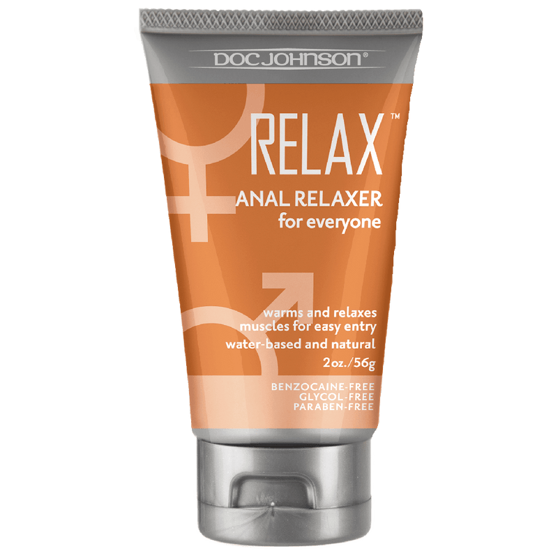 Relax - Anal Relaxer - Water Based Lubricant 2oz - Circus of Books