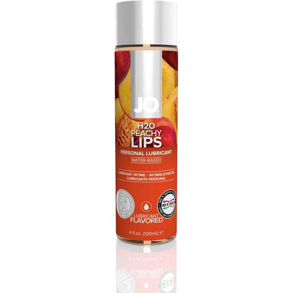 JO - H2O Flavored - Peachy Lips - Water Based Lubricant 4oz - Circus of Books