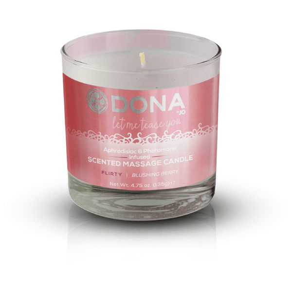 Dona - Flirty Blushing Berry - Scented Massage Candle 4.75oz - Circus of Books