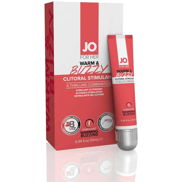 JO - For Her - Warm & Buzzy - Clitoral Stimulant Cream 10ml - Circus of Books