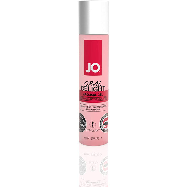 JO - Oral Delight - Strawberry Sensation - Flavored Arousal Gel 1oz - Circus of Books