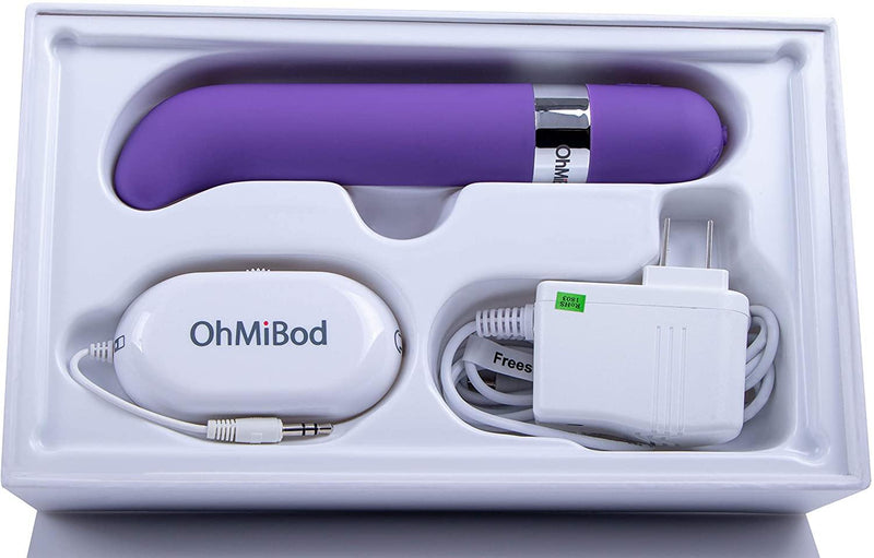 OhMiBod Freestyle G Spot Wireless App Controlled Music Vibrator - Purple