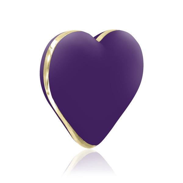 Rianne S Rechargeable Silicone Heart Vibrator - Purple - Circus of Books