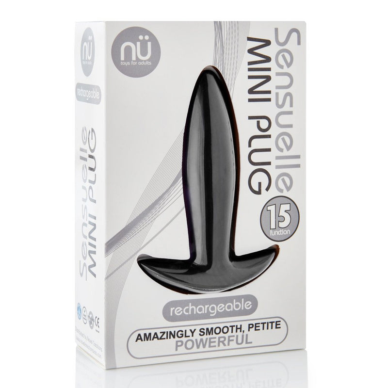 Sensuelle Vibrating Mini Plug - Black - Circus of Books