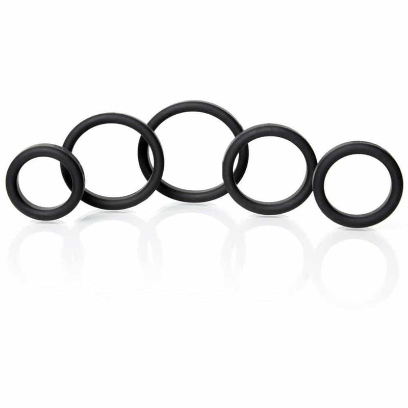Boneyard Silicone Ring 5 Pcs Kit Black - Circus of Books