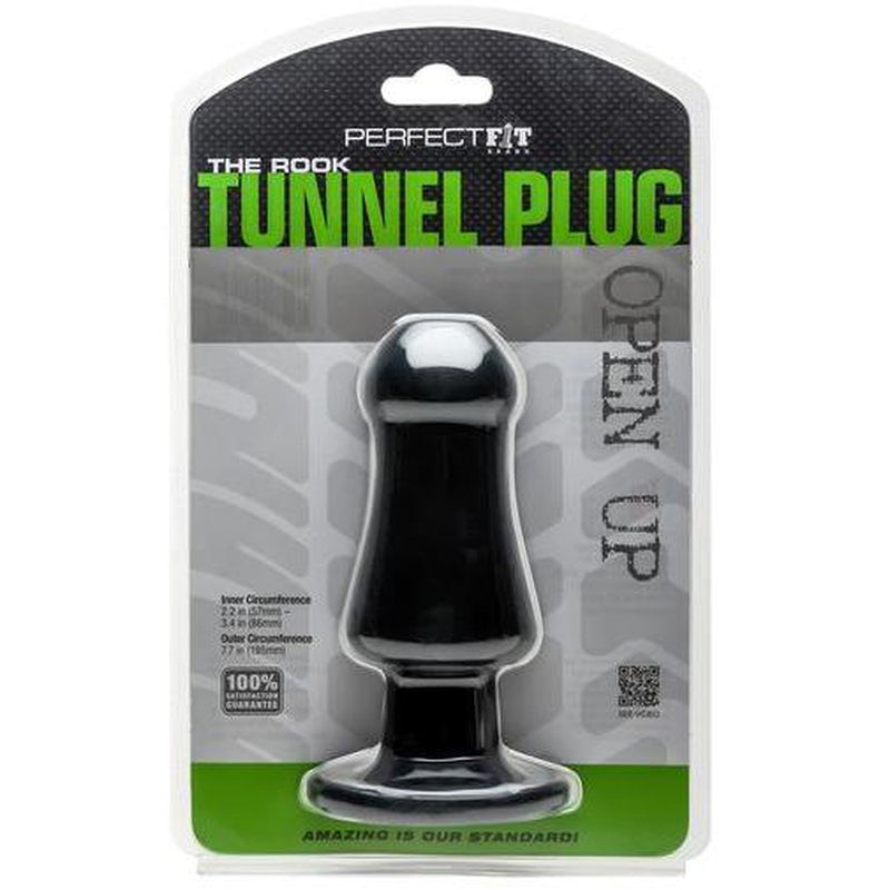 Perfect Fit The Rook Tunnel Plug - Black - Circus of Books