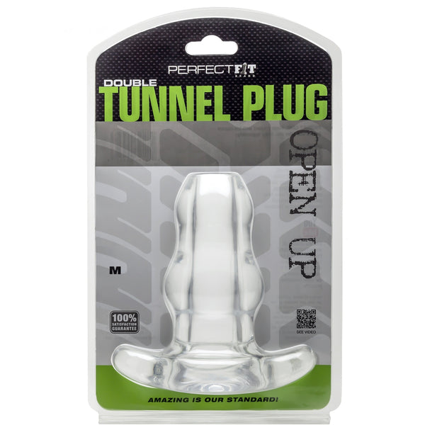 Perfect Fit - Double Tunnel Plug - Medium - Clear - Circus of Books