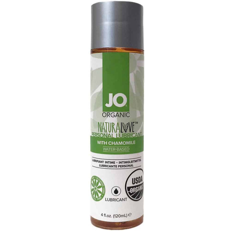 JO - USDA Organic - NaturaLove - Water Based Lubricant with Chamomile 4oz - Circus of Books