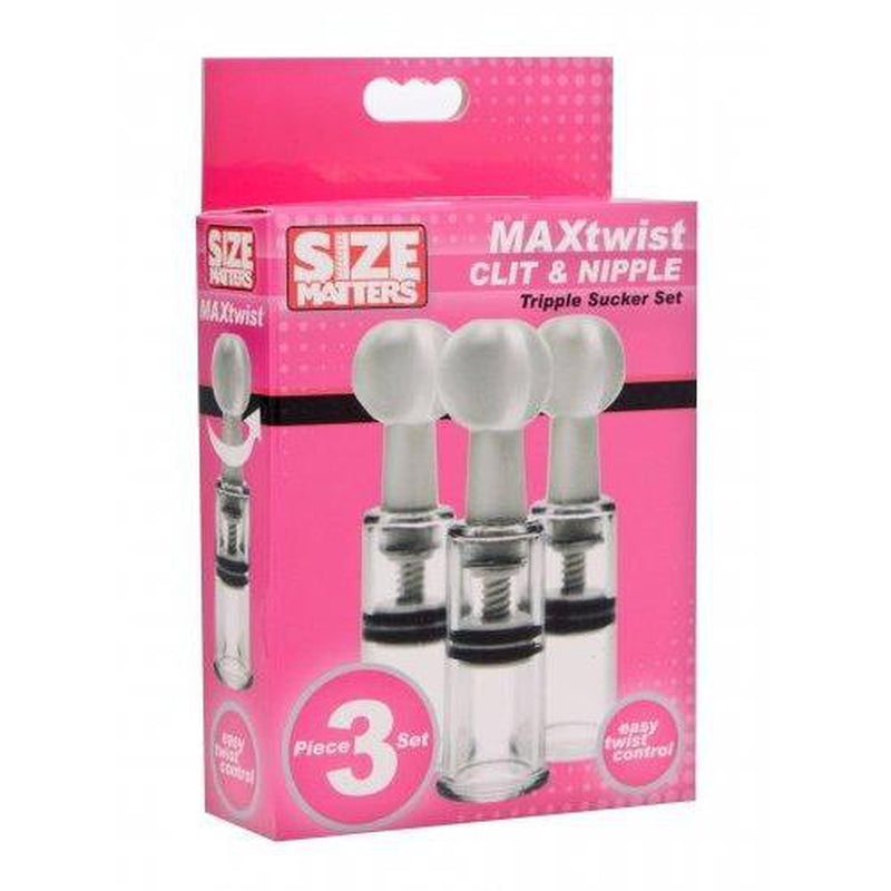 Size Matters - Twist Clit & Nipple Triple Sucker Set - Circus of Books