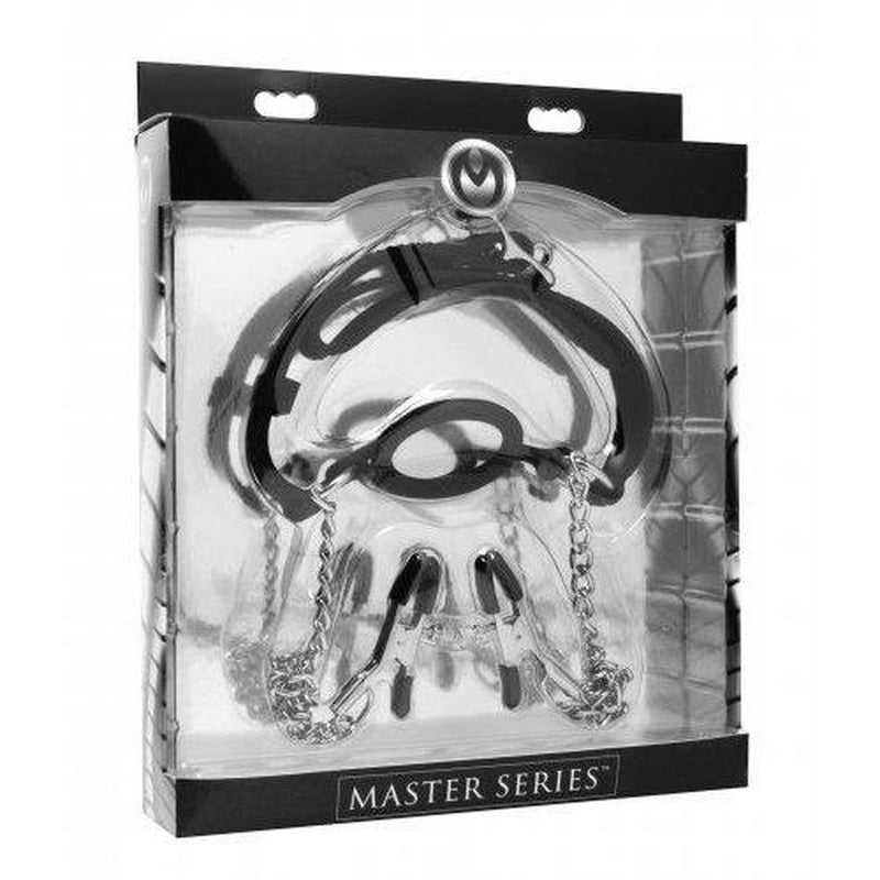 Master Series - Mutiny - O-Ring Gag w/ Nipple Clamps - Circus of Books