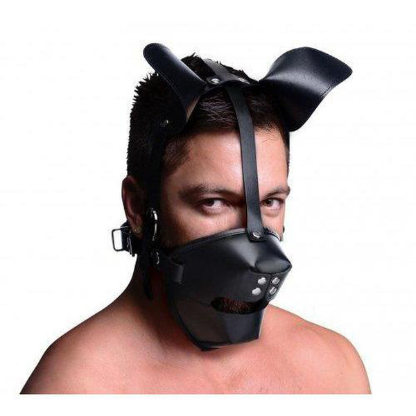 Master Series - Puppy Play Hood and Gag - Circus of Books