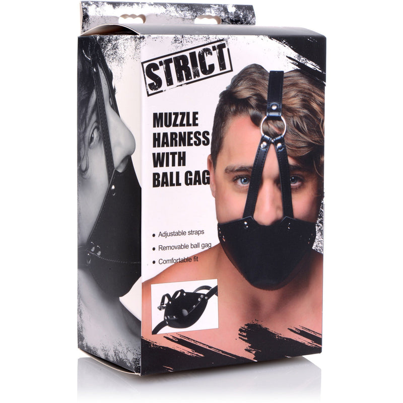 Strict - Mouth Harness w/Ball Gag - Circus of Books