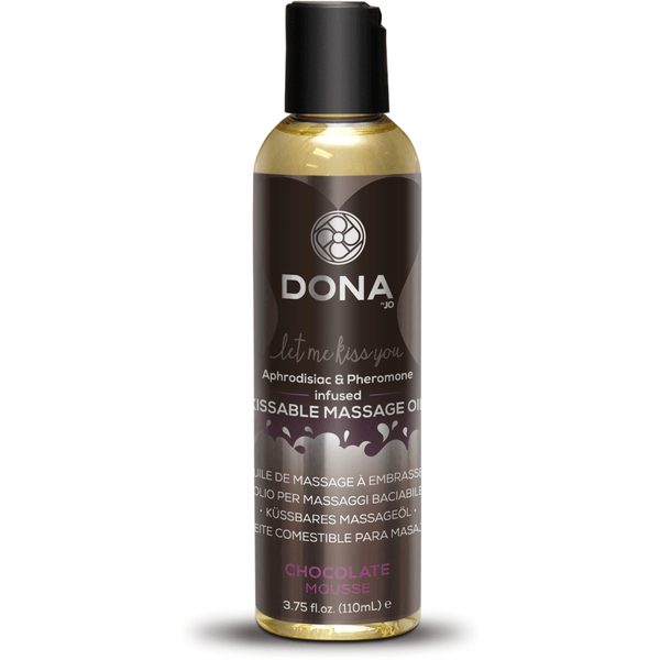 Dona - Chocolate Mousse - Aphrodisiac & Pheromone Infused Kissable Massage Oil 3.75oz - Circus of Books