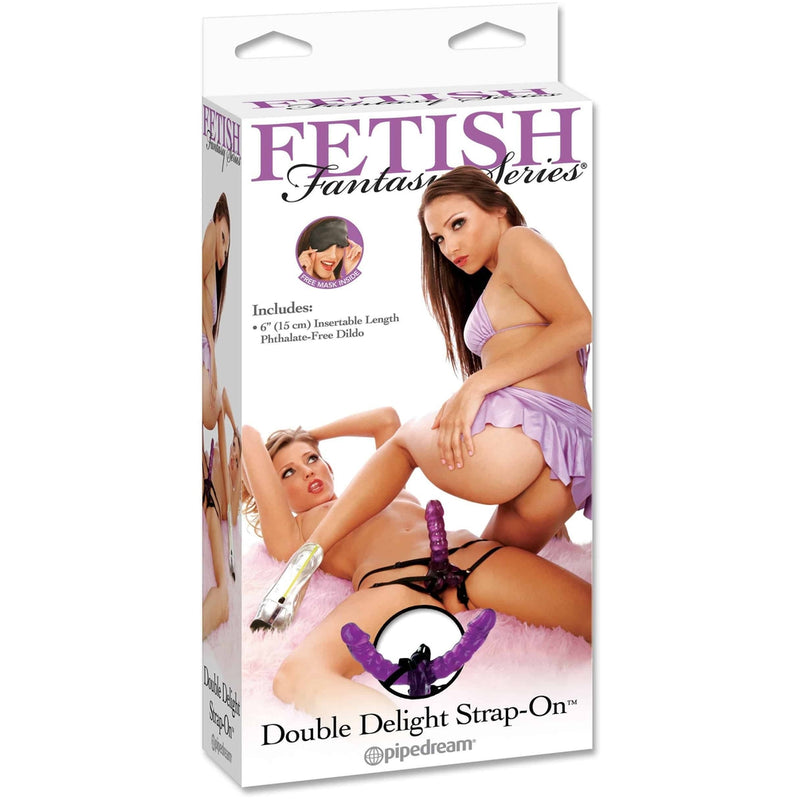 Fetish Fantasy Double Delight Strap On - Purple - Circus of Books