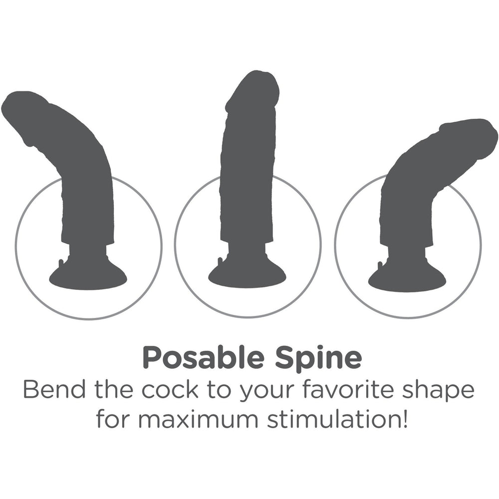 "King Cock Vibrating Cock 7"" - Brown"