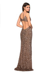 La Femme 27191 All Over Sequin Open Back Gown