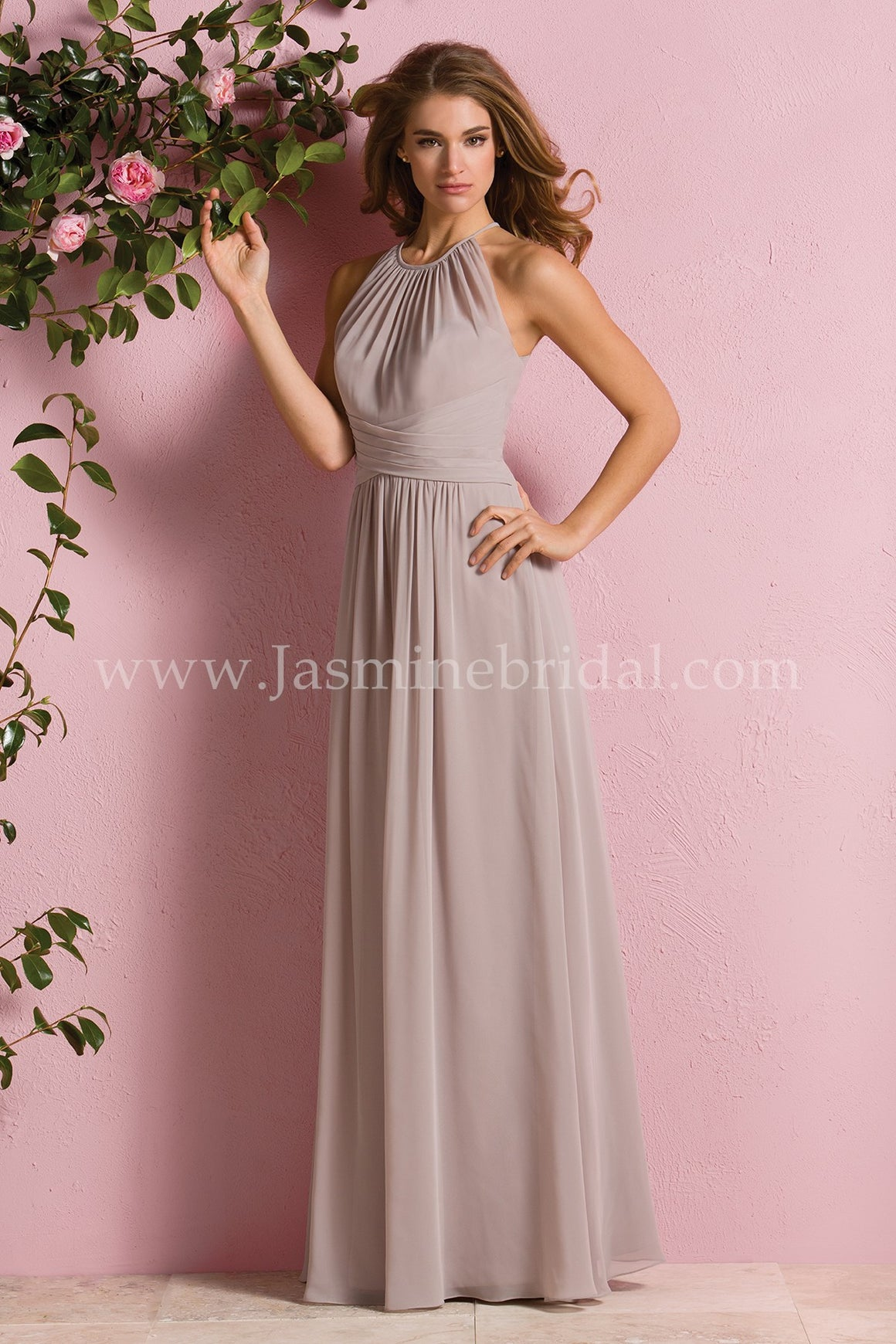 Poly Chiffon A-Line Halter Dress - Available Long or Short  In Store ONLY- Several Colors - Sizes 00-34  - Also Available in Maternity 04-28 -