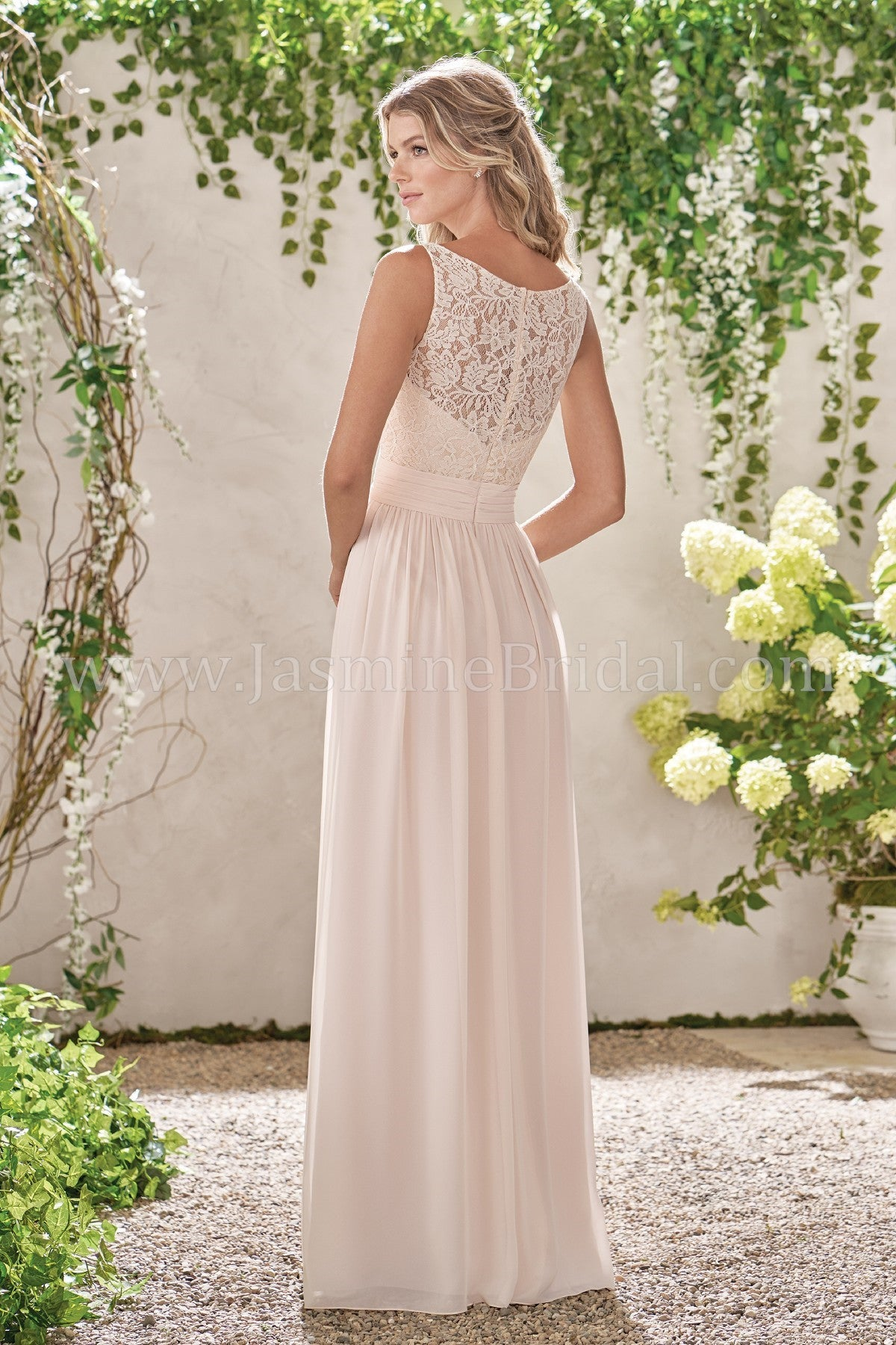 Poly Chiffon V-Neck Dress with Lace and Rouching - Available Long or Short  ... b9a3558a7
