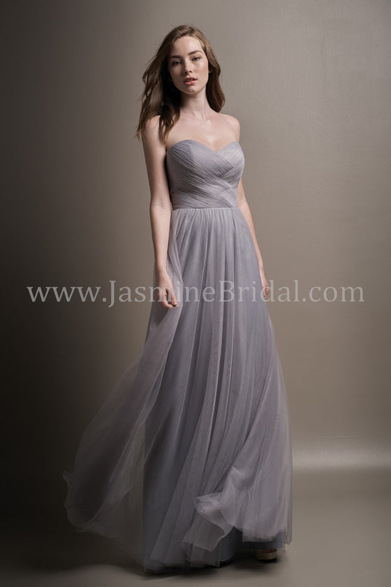 Metallic Lace & Soft Tulle Strapless Sweetheart Dress  - Available Long or Short - Several Colors - Sizes 00-34 - In Store ONLY