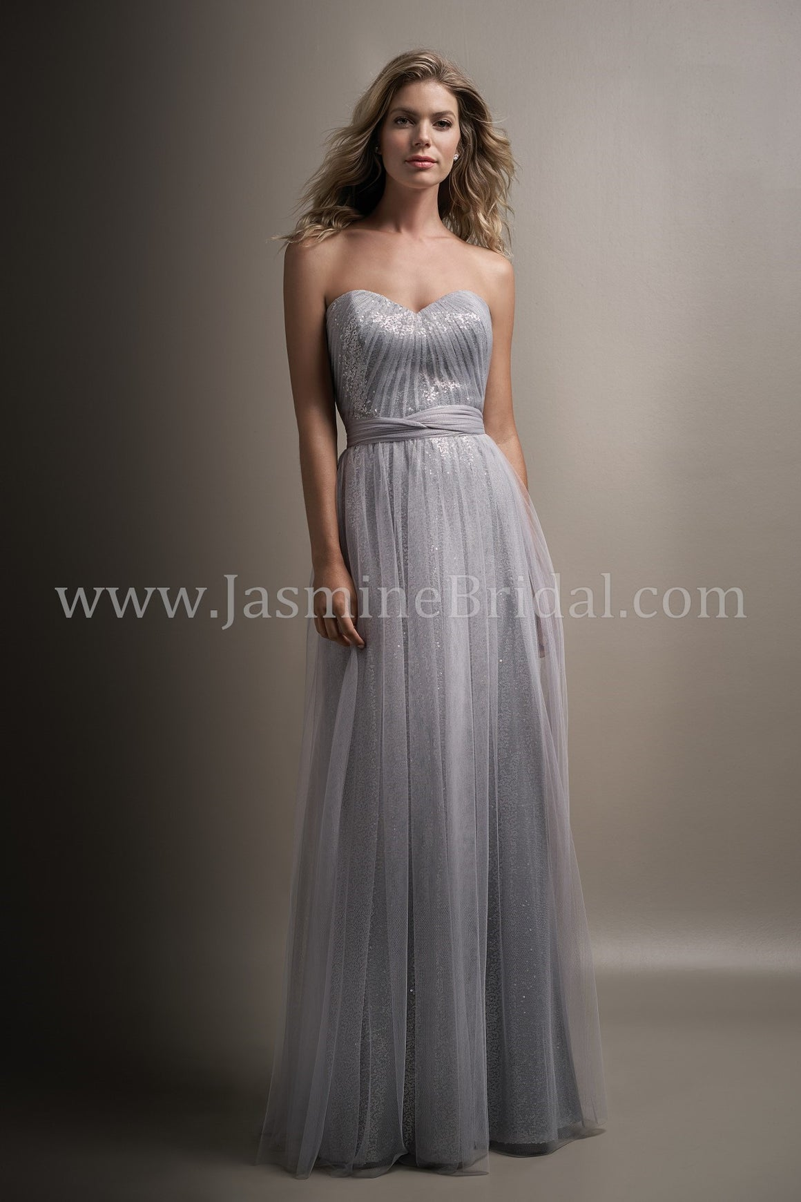 Soft Tulle & Sequins Sweetheart Convertible Dress  - Available Long or Short - Several Colors - Sizes 00-34 - In Store ONLY