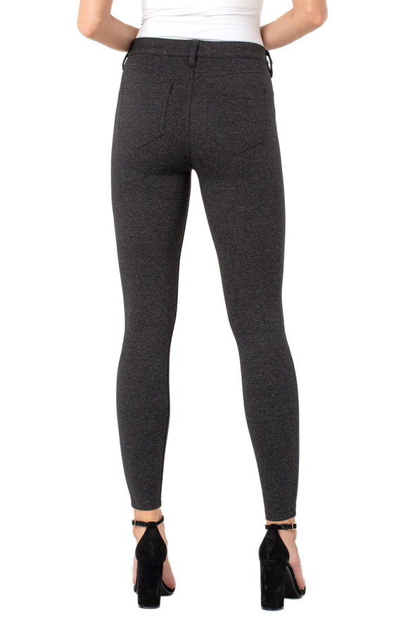 Liverpool Madonna Knit Legging | Black/Grey Marled