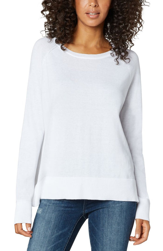 Liverpool Light-Weight Raglan Style Knit | White, Black