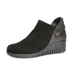 The Flexx Suede & Gunmetal Snake Short Wedge Boootie