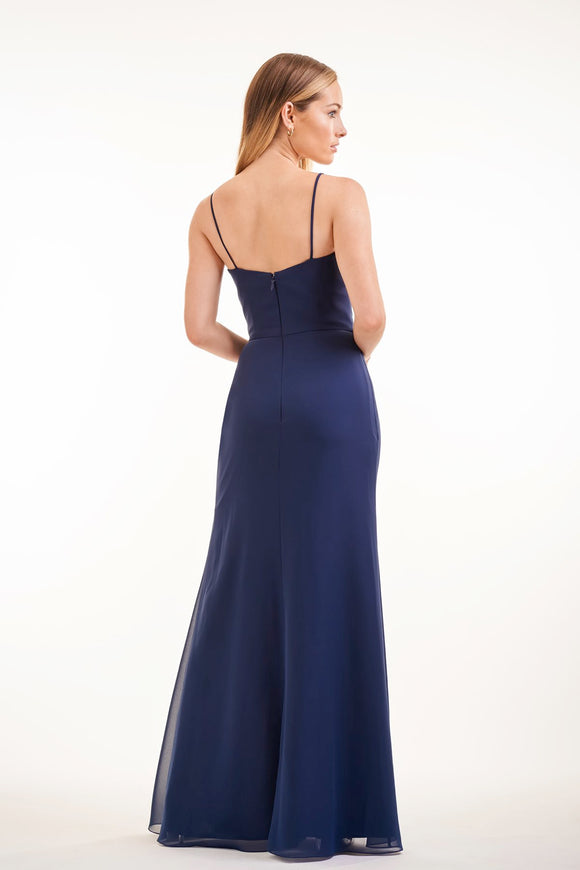 Simple Charlotte Chiffon Long Fit-and-Flare Bridesmaid Dress - Many Colors Available
