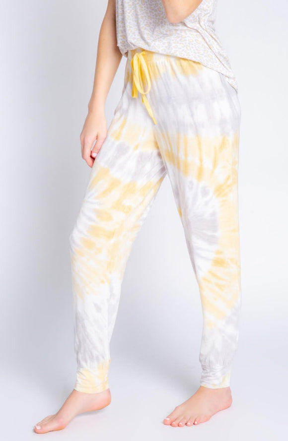 Sunshine Tie Dye Matching Tank and Jogger PJ Set