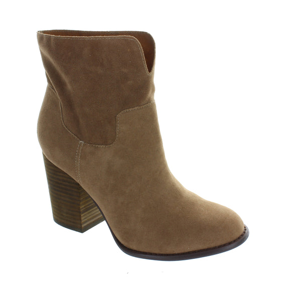 Silence Sueded Stack Heel Bootie