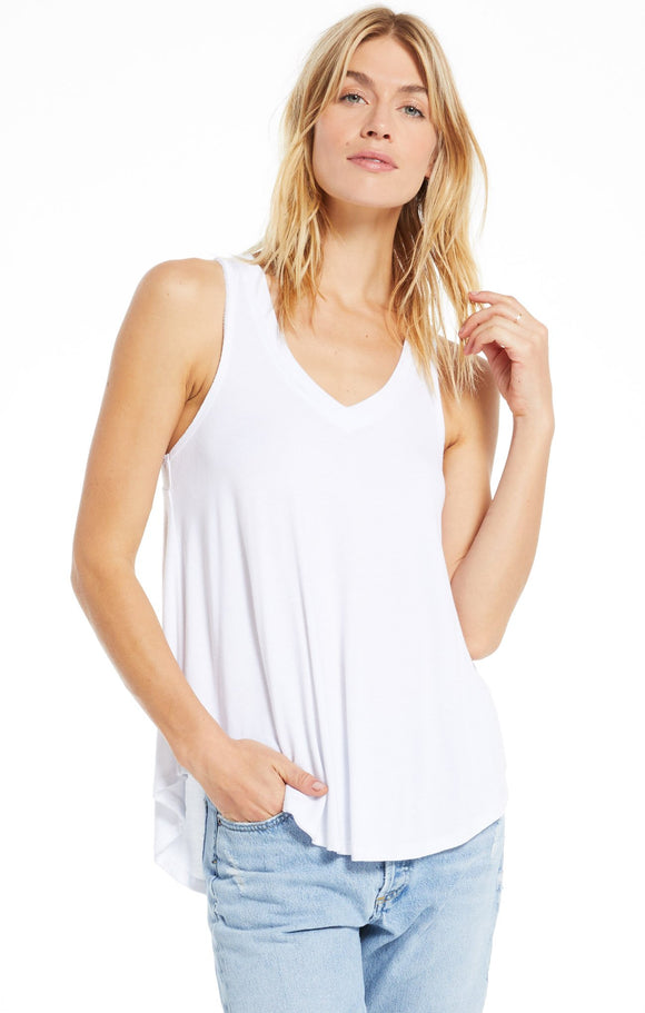 Z Supply Vagabond Tank | Lavender grey, White, Charcoal