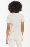 Z Supply Organic Cotton V-Neck Tee with Raw Edge Details | Bronze, Black, White, Dove Grey