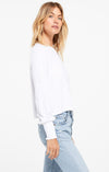 "Z Supply ""Lyla"" Knit Top With Elastic Puff Sleeve Detail 