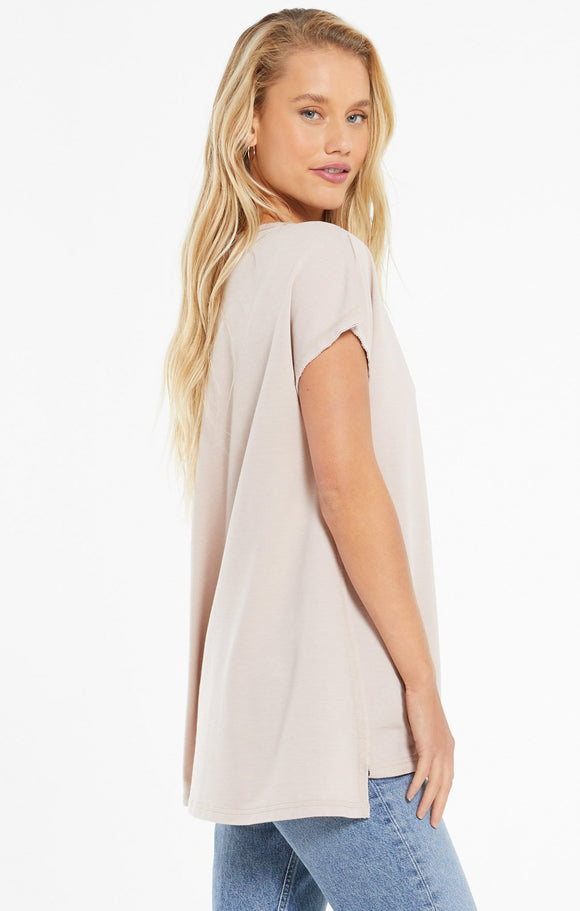 Z Supply Frankie French Terry Short sleeve Tunic | Mushroom