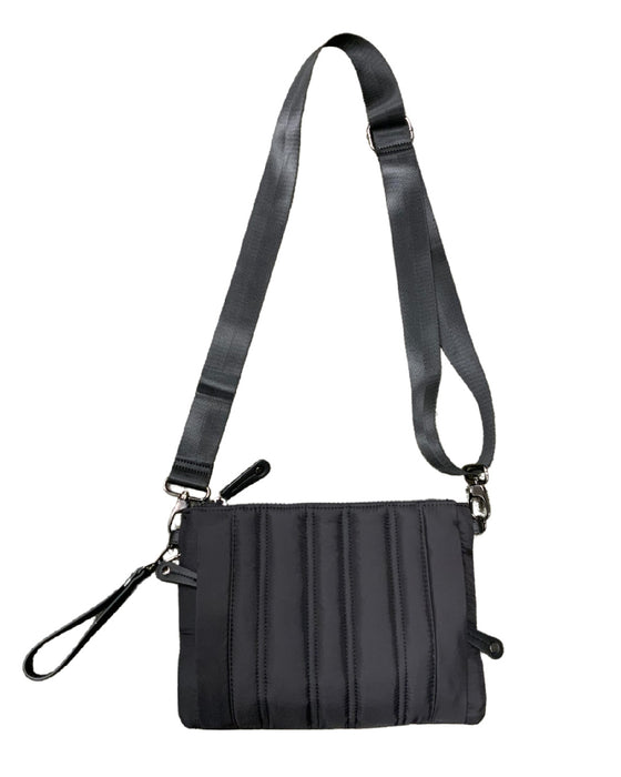 Quilted Convertible Black Cross-Body bag