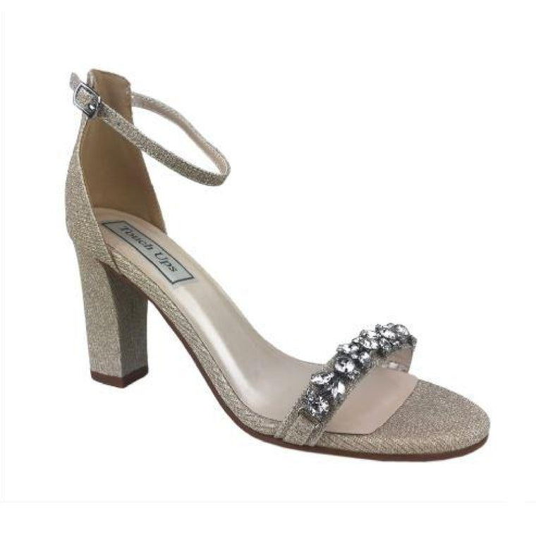 Camilla Beaded Sandal in Champagne Shimmer