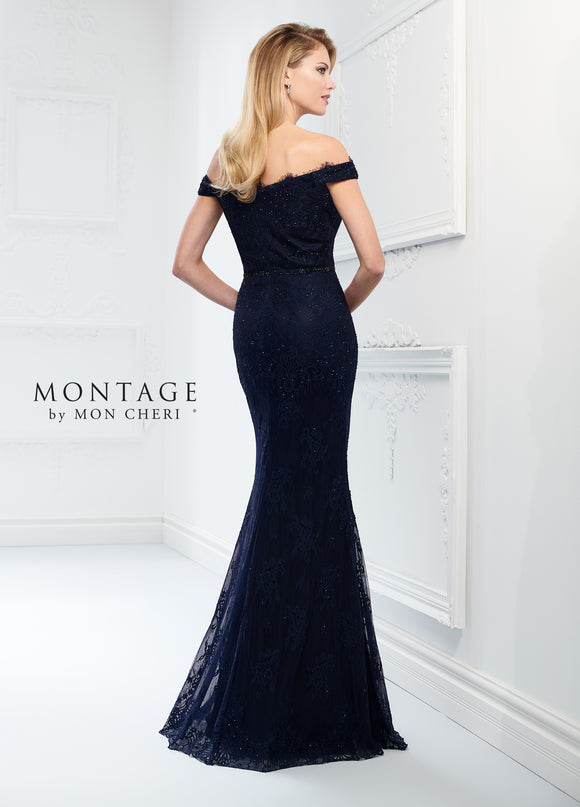 Montage 218917 Off the Shoulder Lace Gown