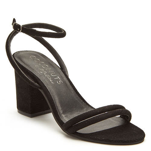 "Coconuts ""No Return"" Black Chunky Heel Sandal"