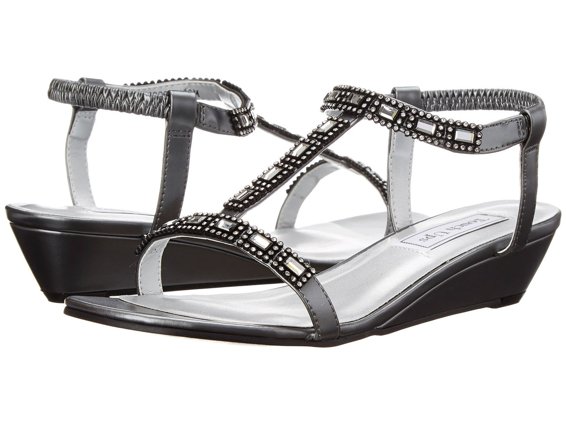 Touch-Up Jazz Wedge Sandal in Pewter