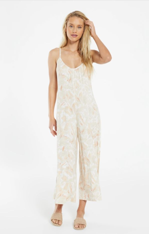 "Z Supply ""Summerland"" Floral Slim Flared Jumpsuit 