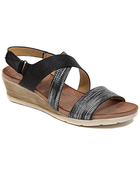 Cushioned Black/Neutral Walking Sandal