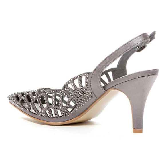 Lady Couture Ester Sling Back Heel | Champagne, Pewter. Navy, Black