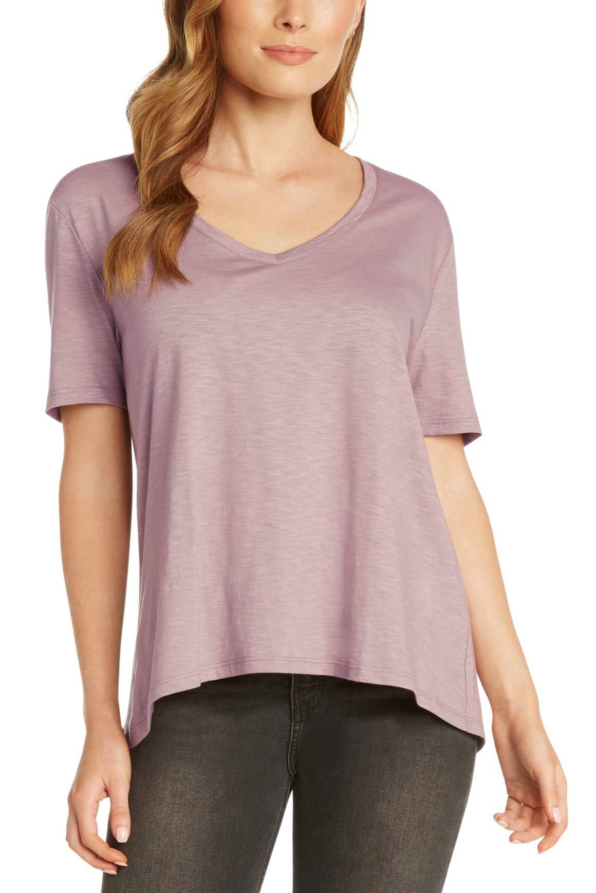 Vintage Feel V-Neck Tee | Lavender, Indigo, Black, Military, Vellum