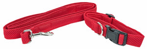 Pet Life ®  'Aero Mesh' 2-In-1 Dual Sided Comfortable And Breathable Adjustable Mesh Dog Leash-Collar