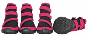 Pet Life ® 'Performance-Coned' Premium Stretch High Ankle Support Dog Shoes - Set Of 4